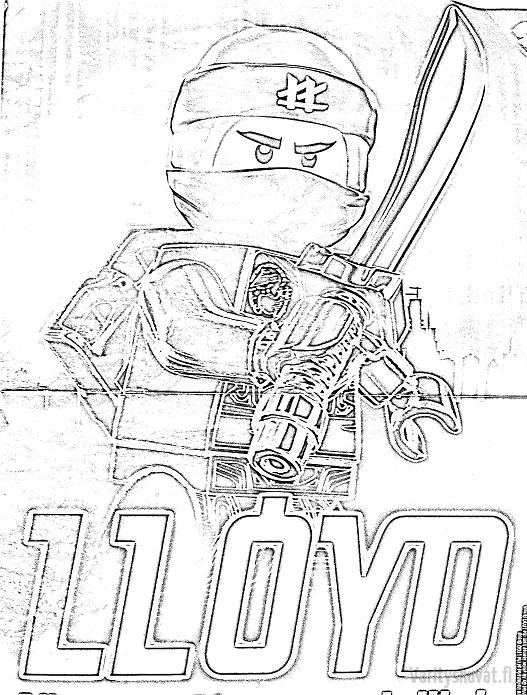 lego-ninjago-värityskuvat-LLoyd