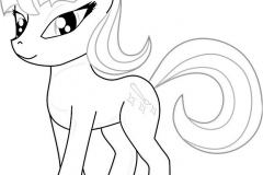 Unicorn coloring pages 2