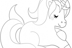 Unicorn coloring pages 3